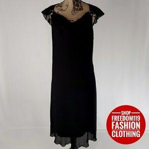 Axcess | Lined Layered Drape Dress w/Metal (16)